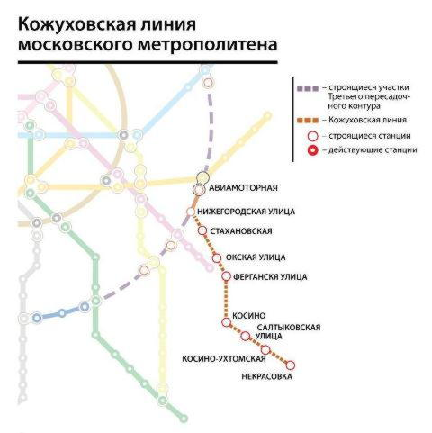 Метро схема кожуховская ветка метро