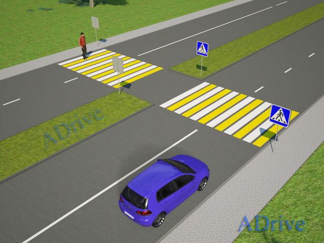 остановка перед знаком пешеходный переход
