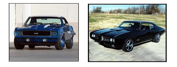 Chevrolet Camaro ZL1 года и Pontiac GTO 1969 года