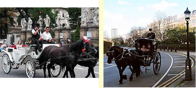 Такси Hansom - конные экипажи