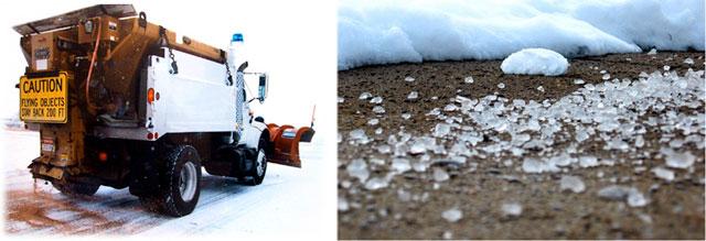Песок и соль помогают при обледенении