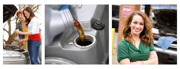 Эти дамы точно знают зачем нужно менять масло в двигателе