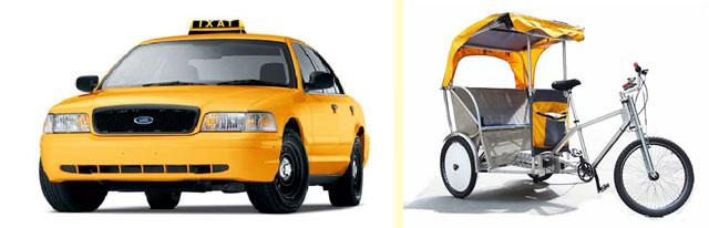 Такси и велорикша