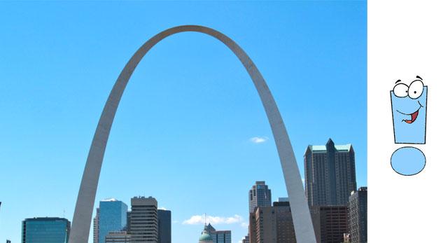 «Врата на запад» высотой 189 метров, 189 метров ширин и весом 17,246 тонн